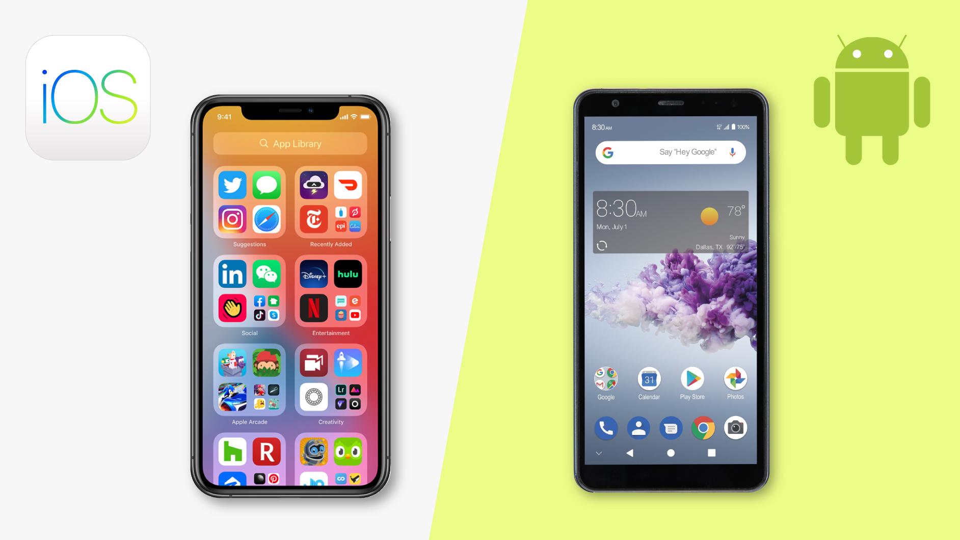Android app design vs iOS app design